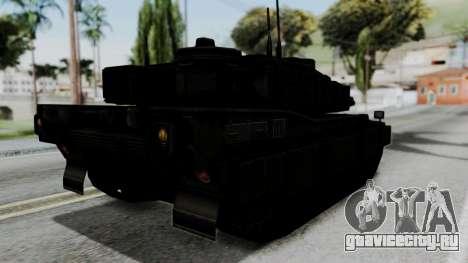 Point Blank Black Panther Woodland IVF для GTA San Andreas вид слева