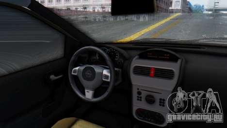 Opel Corsa C Policia для GTA San Andreas вид сзади