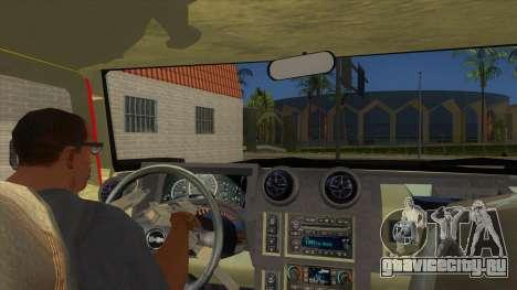 HUMMER H2 Firetruck для GTA San Andreas вид изнутри