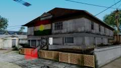 New CJ House with Kurdish Flag для GTA San Andreas