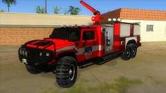 HUMMER H2 Firetruck для GTA San Andreas