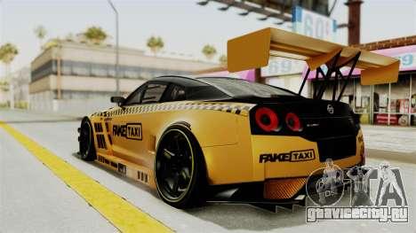 Nissan GT-R Fake Taxi для GTA San Andreas вид слева