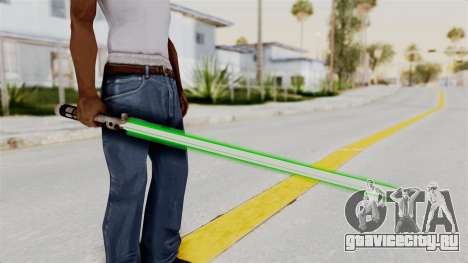 Star Wars LightSaber Green для GTA San Andreas третий скриншот