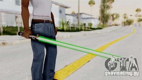 Star Wars LightSaber Green для GTA San Andreas третий скриншот