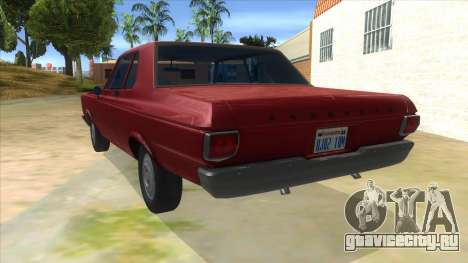 1965 Plymouth Belvedere 2-door Sedan для GTA San Andreas вид сзади слева