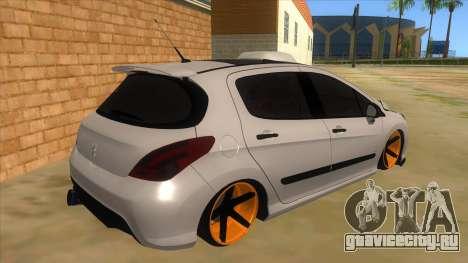 Peugeot 308 Full Sport для GTA San Andreas вид справа