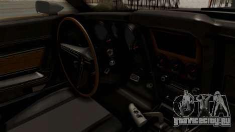 Ford Mustang 1971 Monster Truck для GTA San Andreas вид изнутри