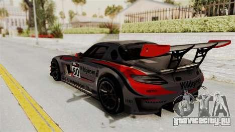 Mercedes-Benz SLS AMG GT3 PJ4 для GTA San Andreas колёса