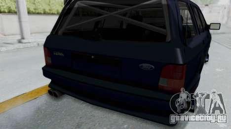Ford Sierra Turnier 4x4 Saphirre Cosworth для GTA San Andreas вид сбоку