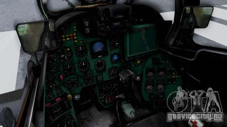 Mi-24V Czech Air Force 7354 для GTA San Andreas вид изнутри