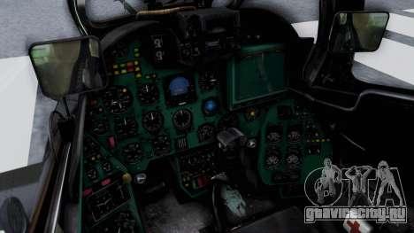 Mi-24V Czech Air Force 7354 для GTA San Andreas вид изнутри