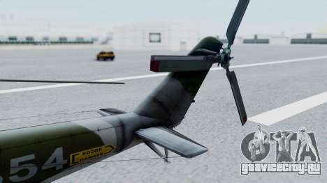 Mi-24V Czech Air Force 7354 для GTA San Andreas вид сзади слева