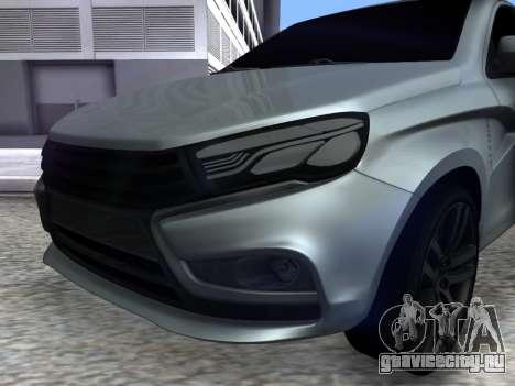 Lada Vesta HD (beta) для GTA San Andreas вид справа