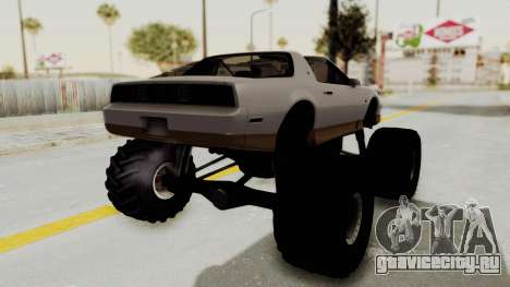 Pontiac Firebird Trans Am Monster Truck 1982 для GTA San Andreas вид справа