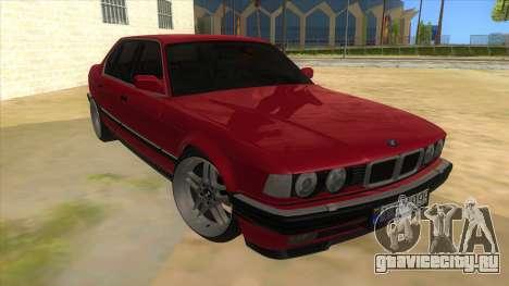 BMW E32 для GTA San Andreas вид сзади