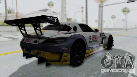Mercedes-Benz SLS AMG GT3 PJ7 для GTA San Andreas вид изнутри