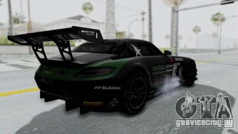 Mercedes-Benz SLS AMG GT3 PJ7 для GTA San Andreas вид сверху