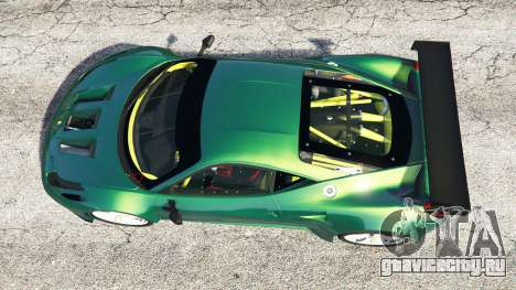 Ferrari 458 Italia GT2 для GTA 5 вид сзади