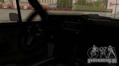 Volkswagen Golf Mk1 GTI для GTA San Andreas вид изнутри