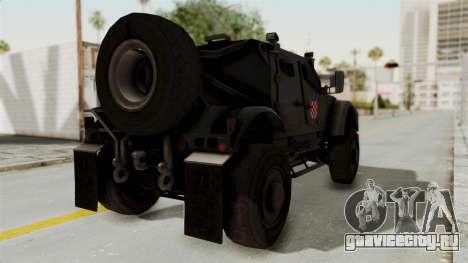 Croatian Oshkosh M-ATV Desert для GTA San Andreas вид слева