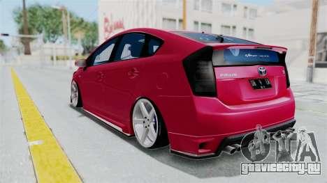 Toyota Prius 2011 Elegant Modification для GTA San Andreas вид справа