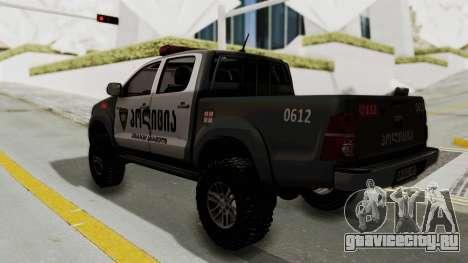 Toyota Hilux 4WD 2015 Georgia Police для GTA San Andreas вид слева