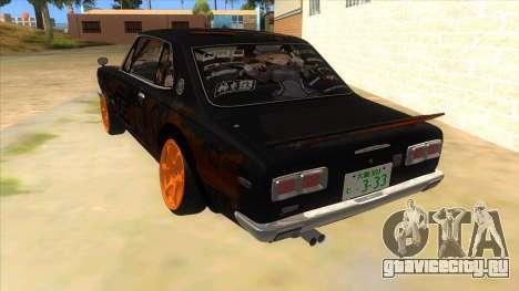 1971 Nissan GT-R Hakosuka для GTA San Andreas вид сзади слева