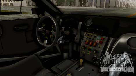 Nissan GT-R Fake Taxi для GTA San Andreas вид изнутри