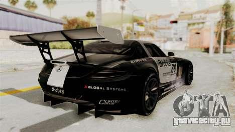 Mercedes-Benz SLS AMG GT3 PJ2 для GTA San Andreas вид сбоку
