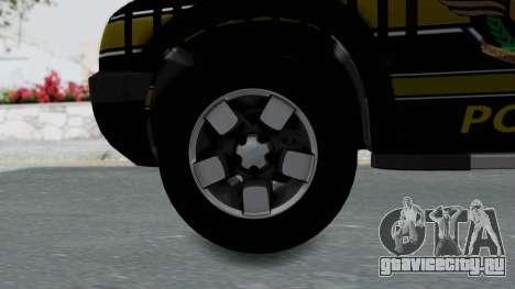 Chevrolet S10 Policia Caminera Paraguaya для GTA San Andreas вид сзади слева