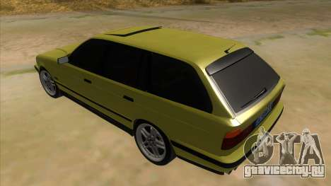 BMW M5 E34 Touring для GTA San Andreas вид сзади слева