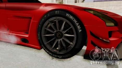 Mercedes-Benz SLS AMG GT3 PJ2 для GTA San Andreas вид сзади