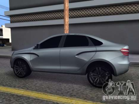 Lada Vesta HD (beta) для GTA San Andreas вид слева