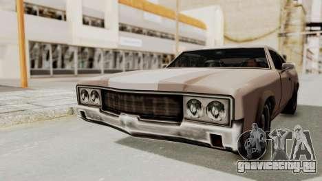 GTA Vice City - Sabre Turbo (Sprayable) для GTA San Andreas вид справа