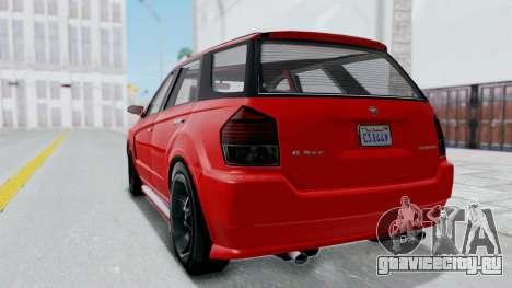 GTA 5 Benefactor Serrano для GTA San Andreas вид сзади слева
