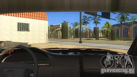 BMW E32 для GTA San Andreas вид изнутри