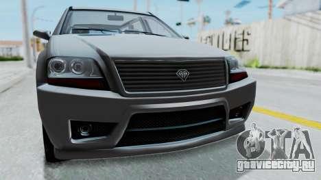 GTA 5 Benefactor Serrano IVF для GTA San Andreas вид сзади