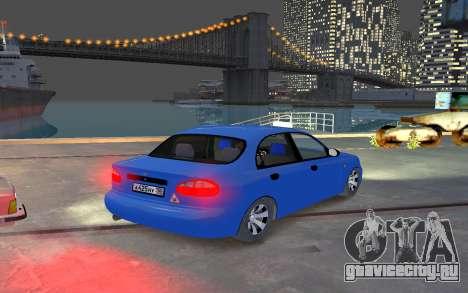 Daewoo Lanos Taxi для GTA 4 вид справа