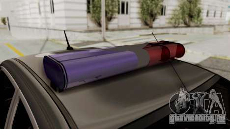 Toyota Hilux 4WD 2015 Georgia Police для GTA San Andreas вид сзади