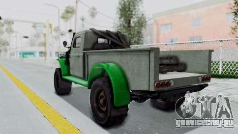 GTA 5 Bravado Duneloader Cleaner Worn IVF для GTA San Andreas вид слева