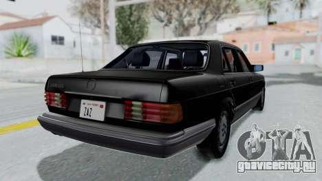 Mercedes-Benz 560SEL 1987 US-spec для GTA San Andreas вид слева