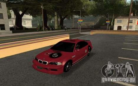 BMW M3 E46 Tunable для GTA San Andreas вид сзади слева