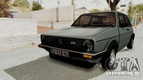 Volkswagen Golf Mk1 GTI для GTA San Andreas