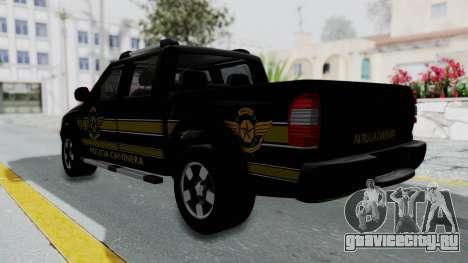 Chevrolet S10 Policia Caminera Paraguaya для GTA San Andreas вид слева