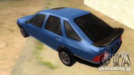 Ford Sierra 1.6 GL Updated для GTA San Andreas вид сзади слева