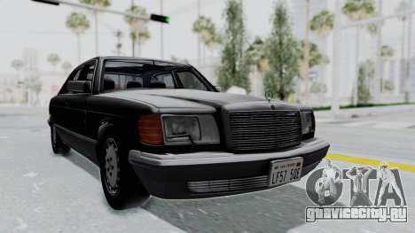 Mercedes-Benz 560SEL 1987 US-spec для GTA San Andreas