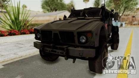 Croatian Oshkosh M-ATV Desert для GTA San Andreas вид справа