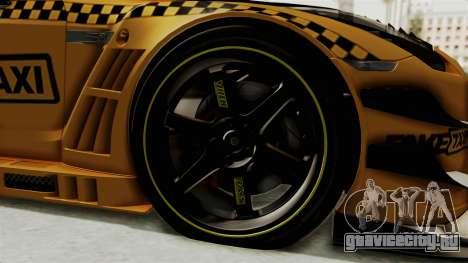 Nissan GT-R Fake Taxi для GTA San Andreas вид сзади