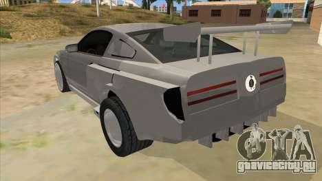 Ford Mustang для GTA San Andreas вид сзади слева