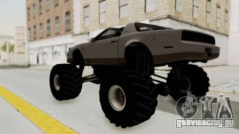 Pontiac Firebird Trans Am Monster Truck 1982 для GTA San Andreas вид слева